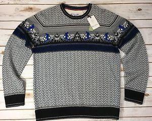 Robert Graham Mens Hit The Slopes Long-Sleeve Crew-Neck Sweater