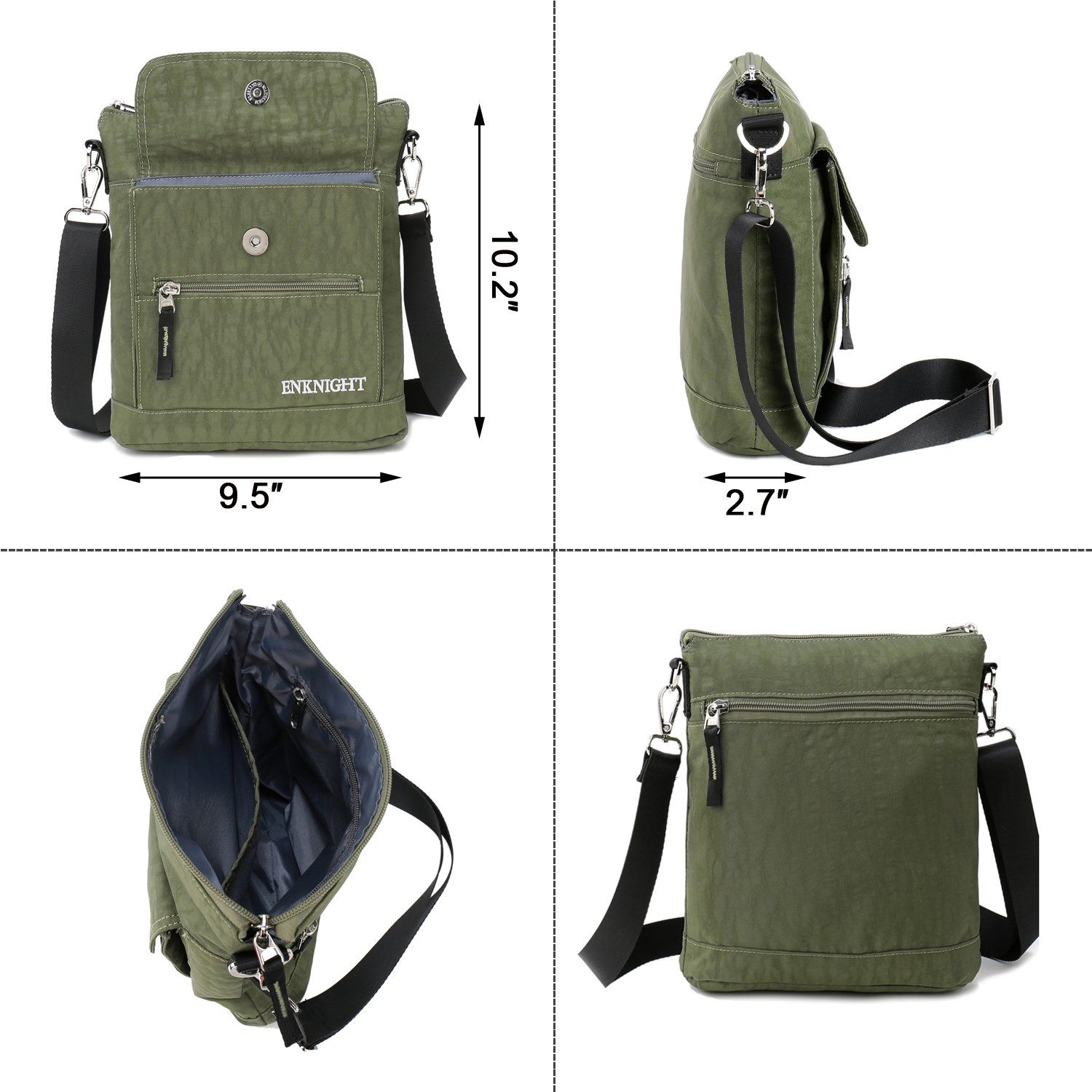 1ea742c64ea7 ENKNIGHT Nylon Crossbody Purse Bag for Women Travel Shoulder handbags Green      More info could be found at the image url. (This is an affiliate link)    ...