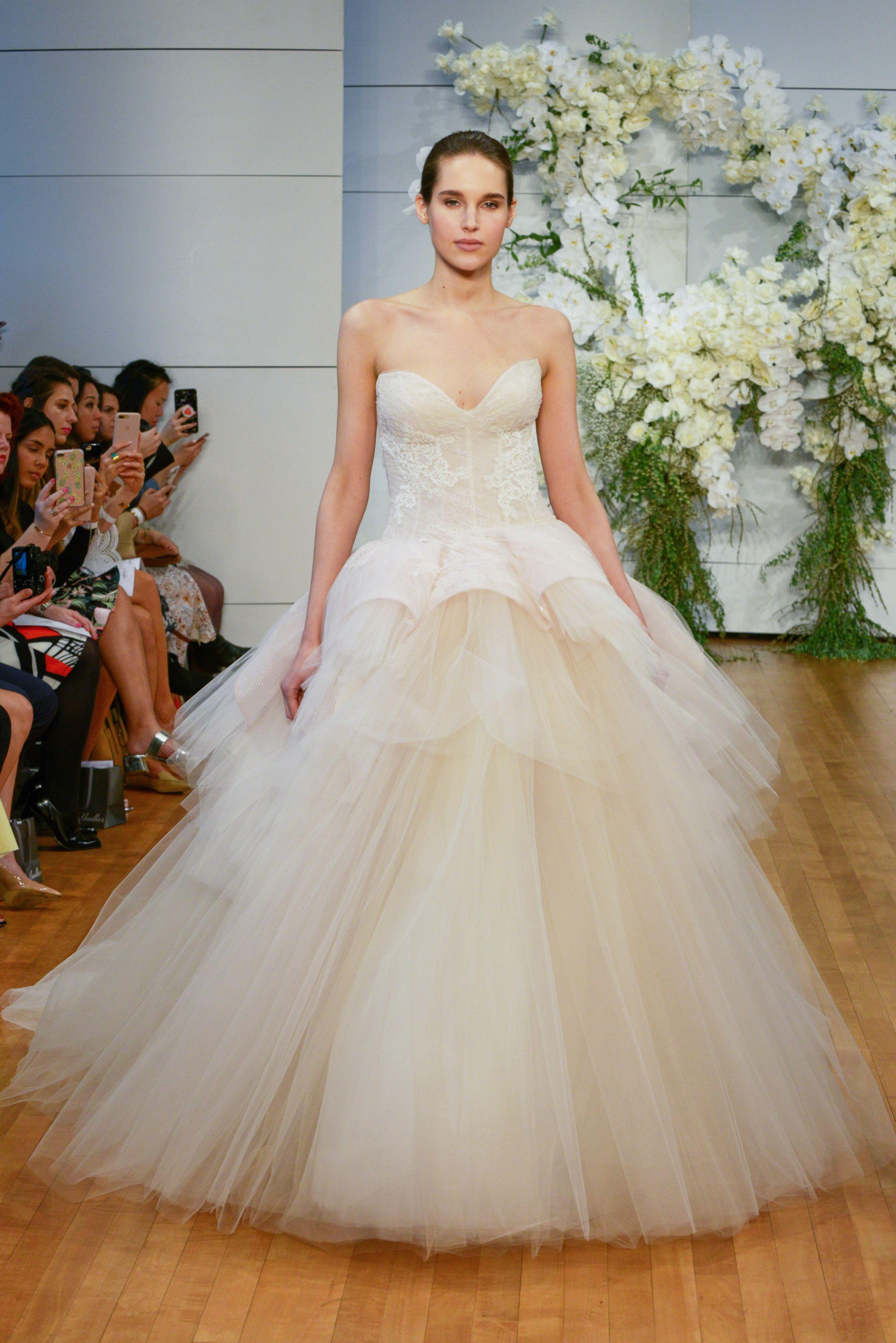 Fleur wedding dress  Pin by Monique Lhuillier on Spring  Bridal  Pinterest  Monique