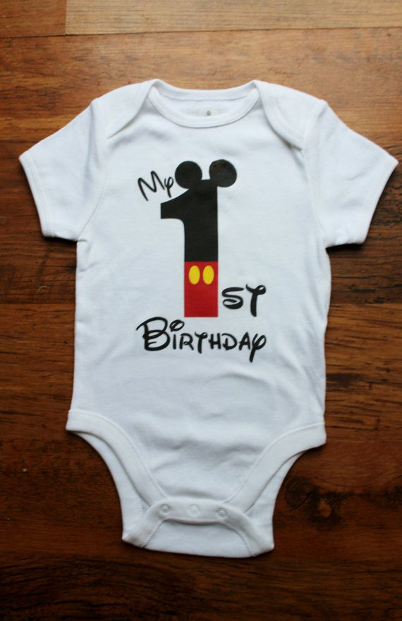 My First Birthday Mickey Theme By Buttonsandbottoms On Etsy