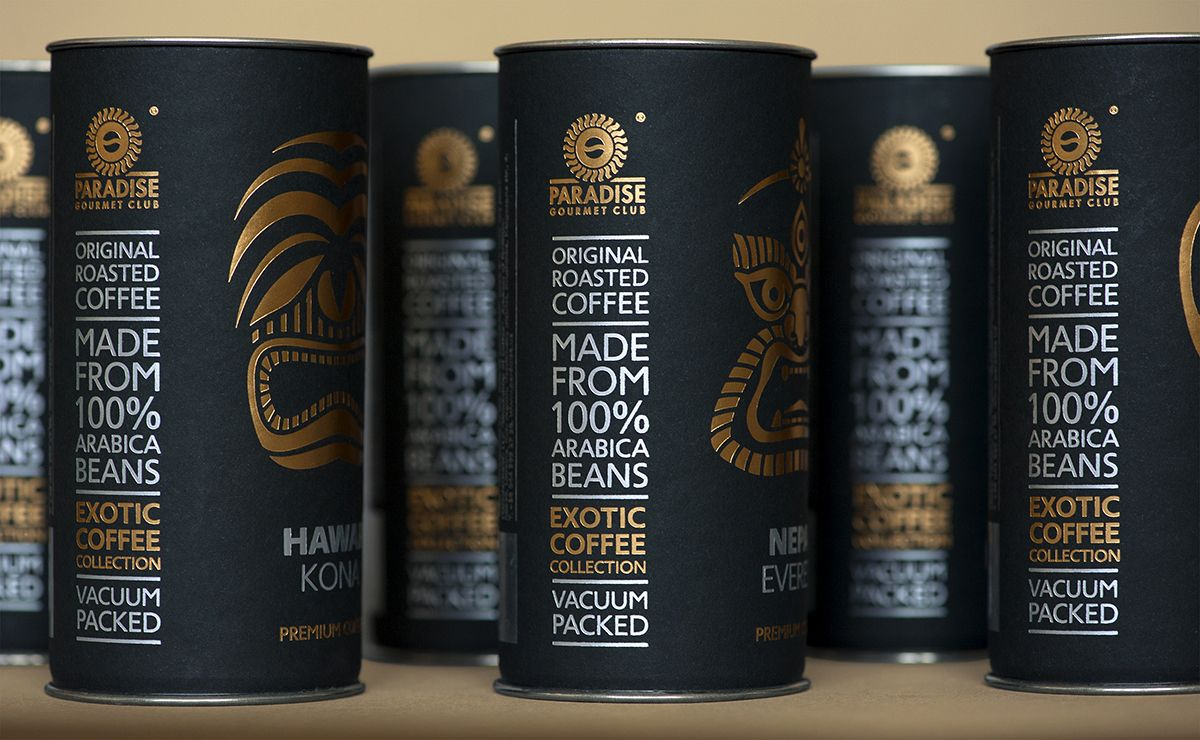 Exotic coffee collection by Paradise. Gourmet-club | Creative ...