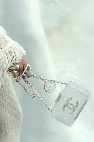 white coco Chanel handbag