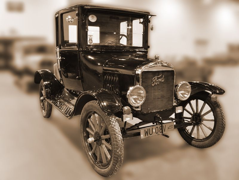 The Model-T Ford, the first car cheap enough for the general public ...