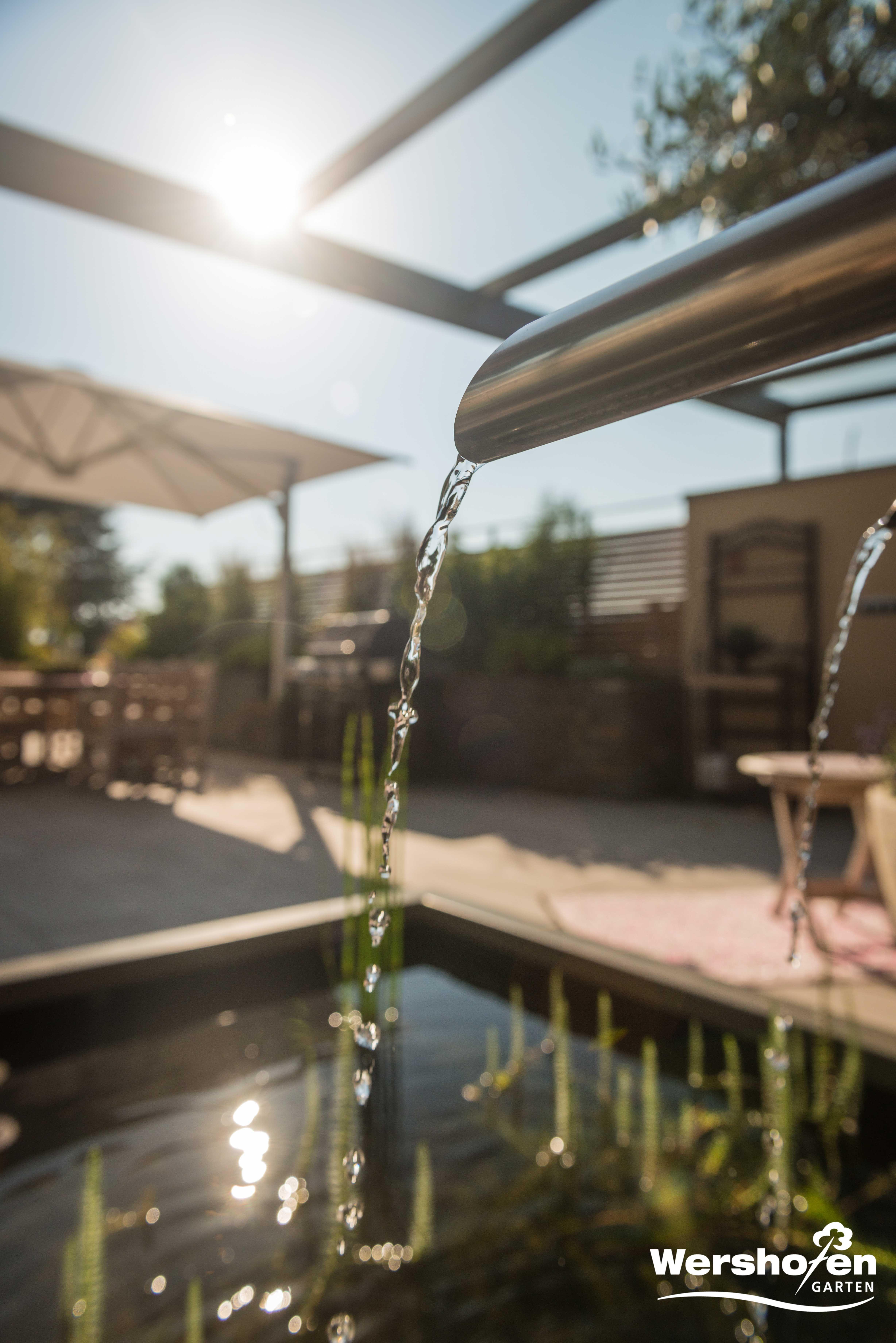 Wershofen Garten Design, Details Wasserspiel `17