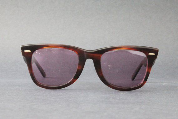 292ef1e14c4c8 cherryREVOLVER Vintage Ray Ban WAYFARER 2052 WWAS Tortoise Shell with Thick  Brown Frame and Rx Presc