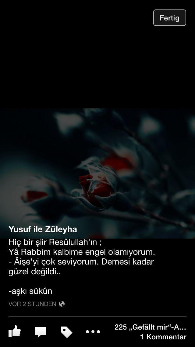 Resulullah sallallahu aleyhi ve sellem'in Hz. Aişe'ye olan aşkı...