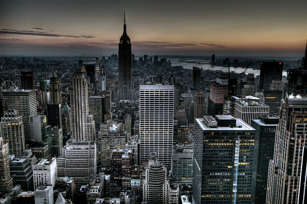 Gotham City Background New York Skyline Wallpaper HDR