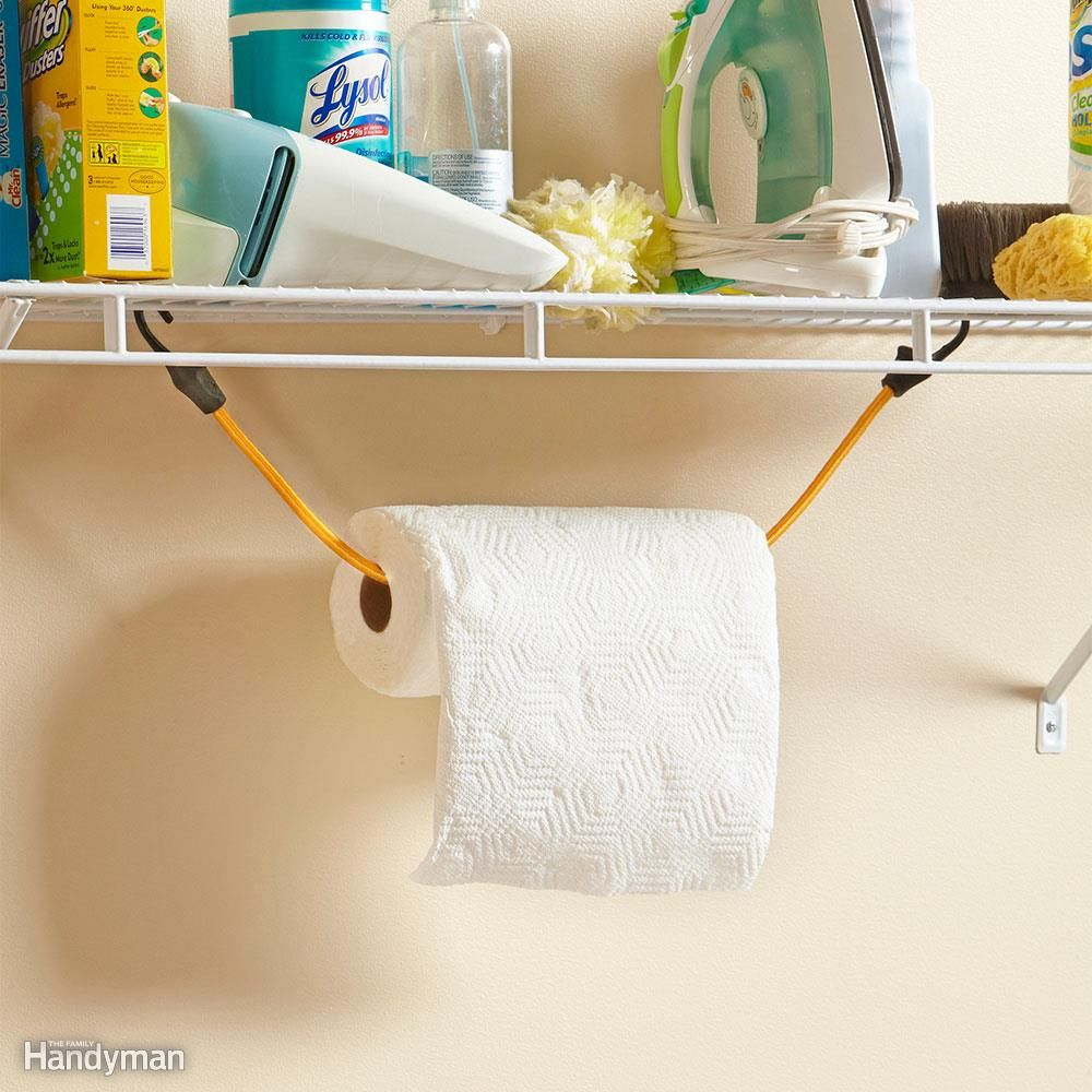 20 Small Space Laundry Room Organization Tips | Paper towel holders ...