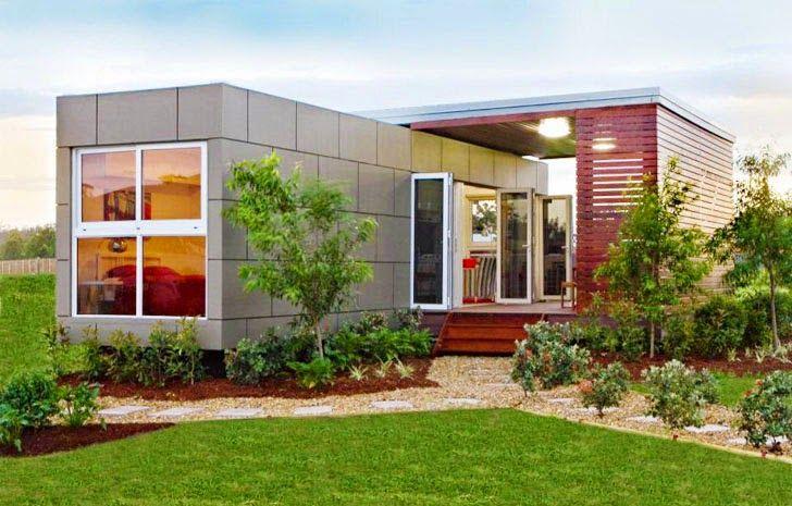 CASAS CONTENEDORES: Compact Prefab House está hecha con un solo ...