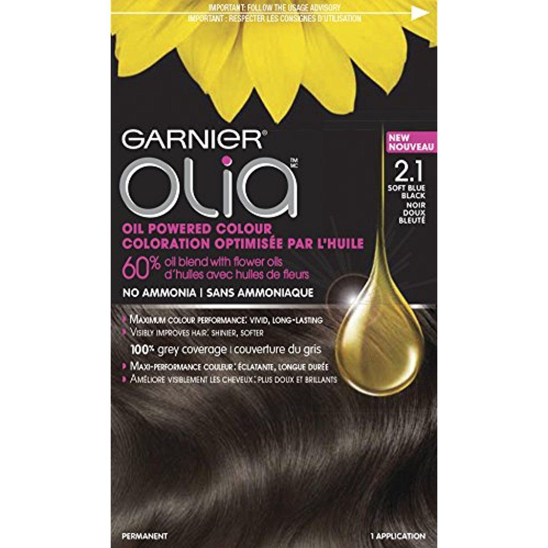 Garnier Olia Oil Powered Permanent Hair Color 2 1 Soft Blue Black