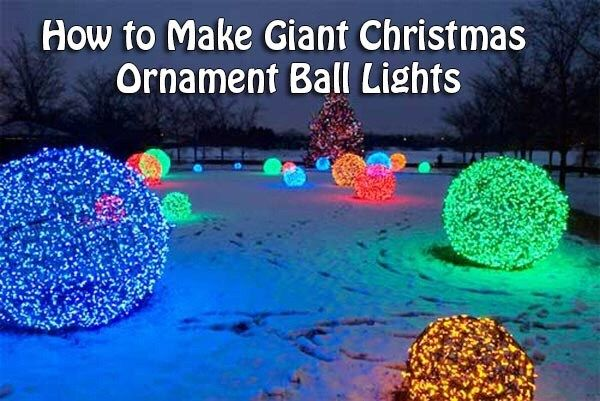 How To Make Giant Christmas Light Bulbs
