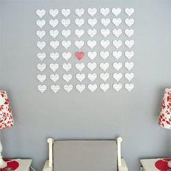 DIY heart wall art made with sheet music, I'd use b pics!!
