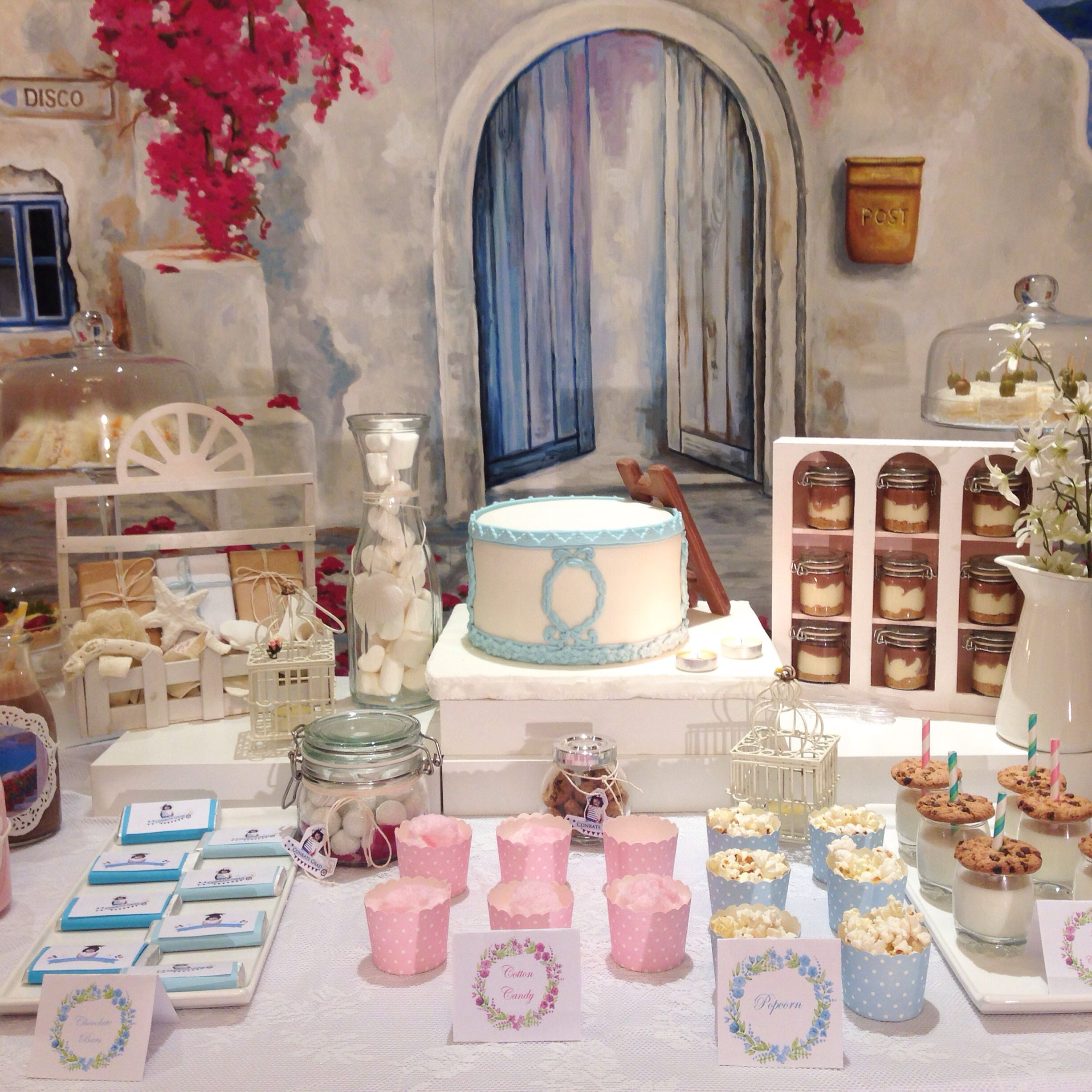 Santorini mamma mia theme party ideas for party for Mia decoracion