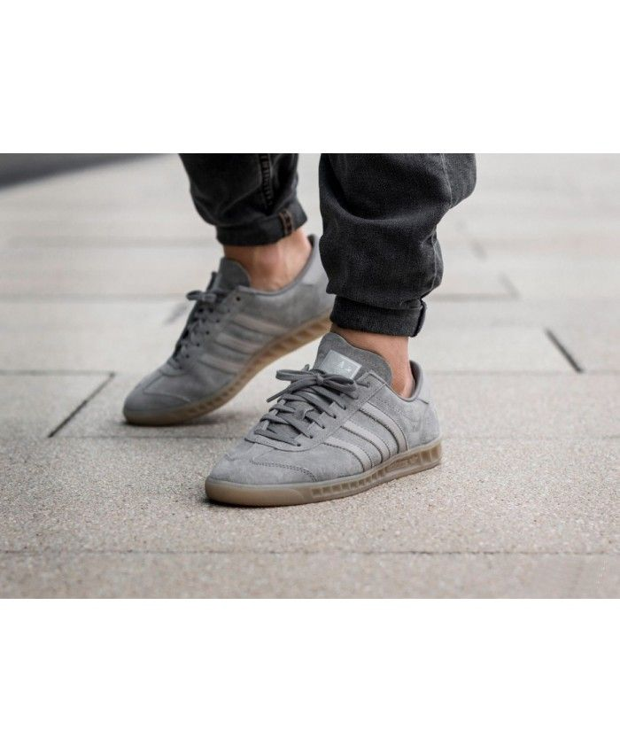 reputable site 87971 aa16e Adidas Hamburg Clear Granite Clear Grey Gum Shoes