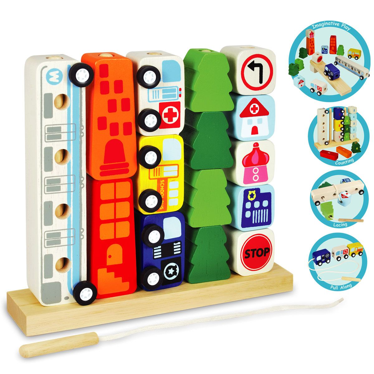Wooden toys images  Sort and Count City  Jouets bois  Pinterest  Count Wooden toys