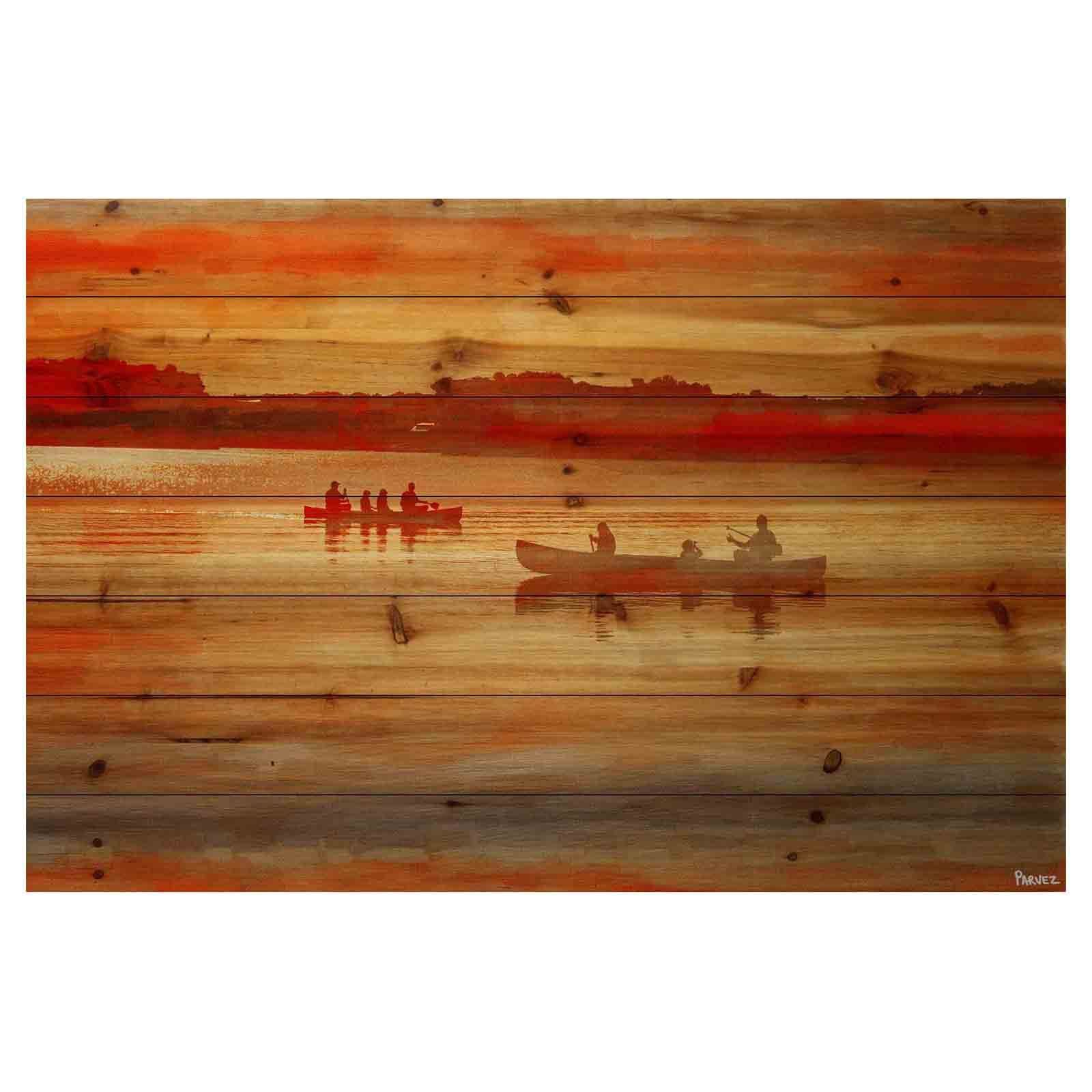 Parvez Taj American Dream Painting Print On Natural Pine: Parvez Taj Lake Lavielle Painting Print On Natural Pine