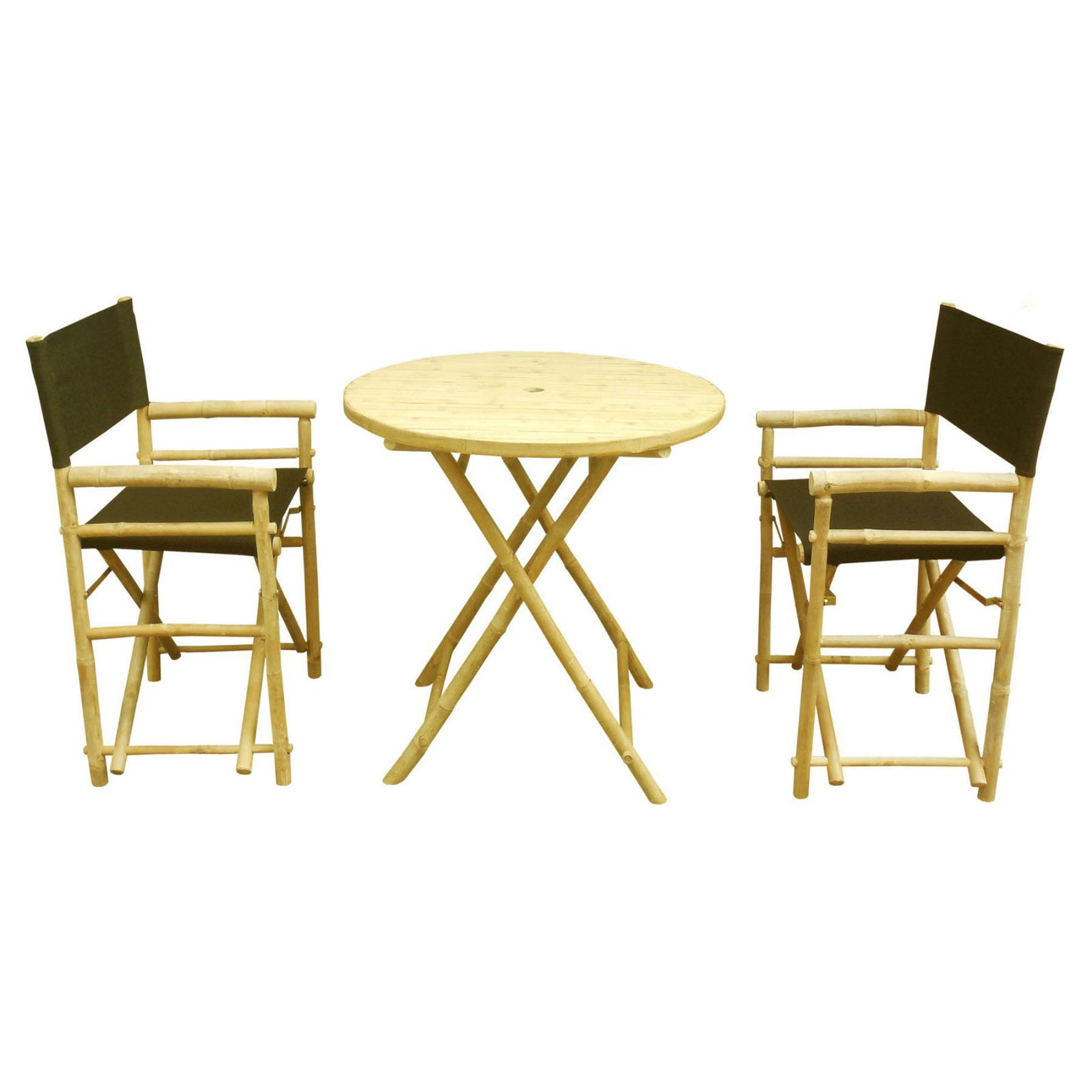 Outdoor phat tommy foldable piece patio bistro set z