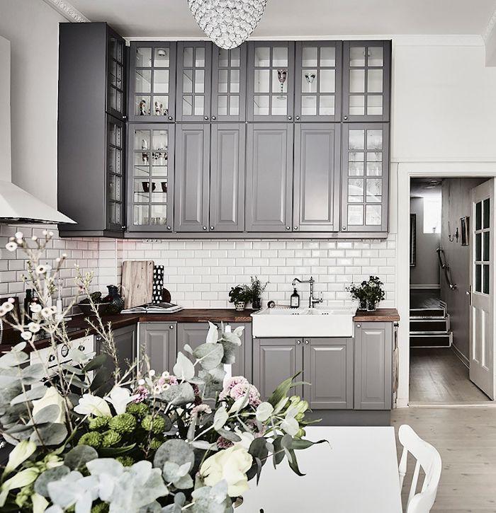 Ikea Kitchen Cabinets Gray enn einn sænski draumurinn. eldhúsið og gluggarnir í þessu húsi