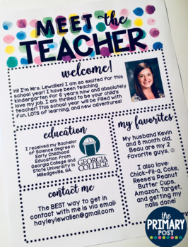 EDITABLE Meet the Teacher Template #classroomdecor
