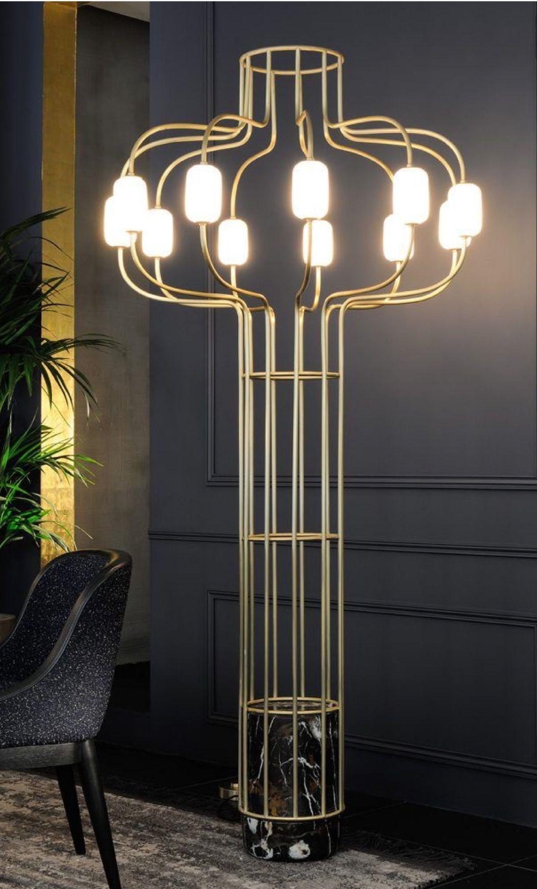 Chandelier Floor Lamp Claude Cartier Décoration Lighting