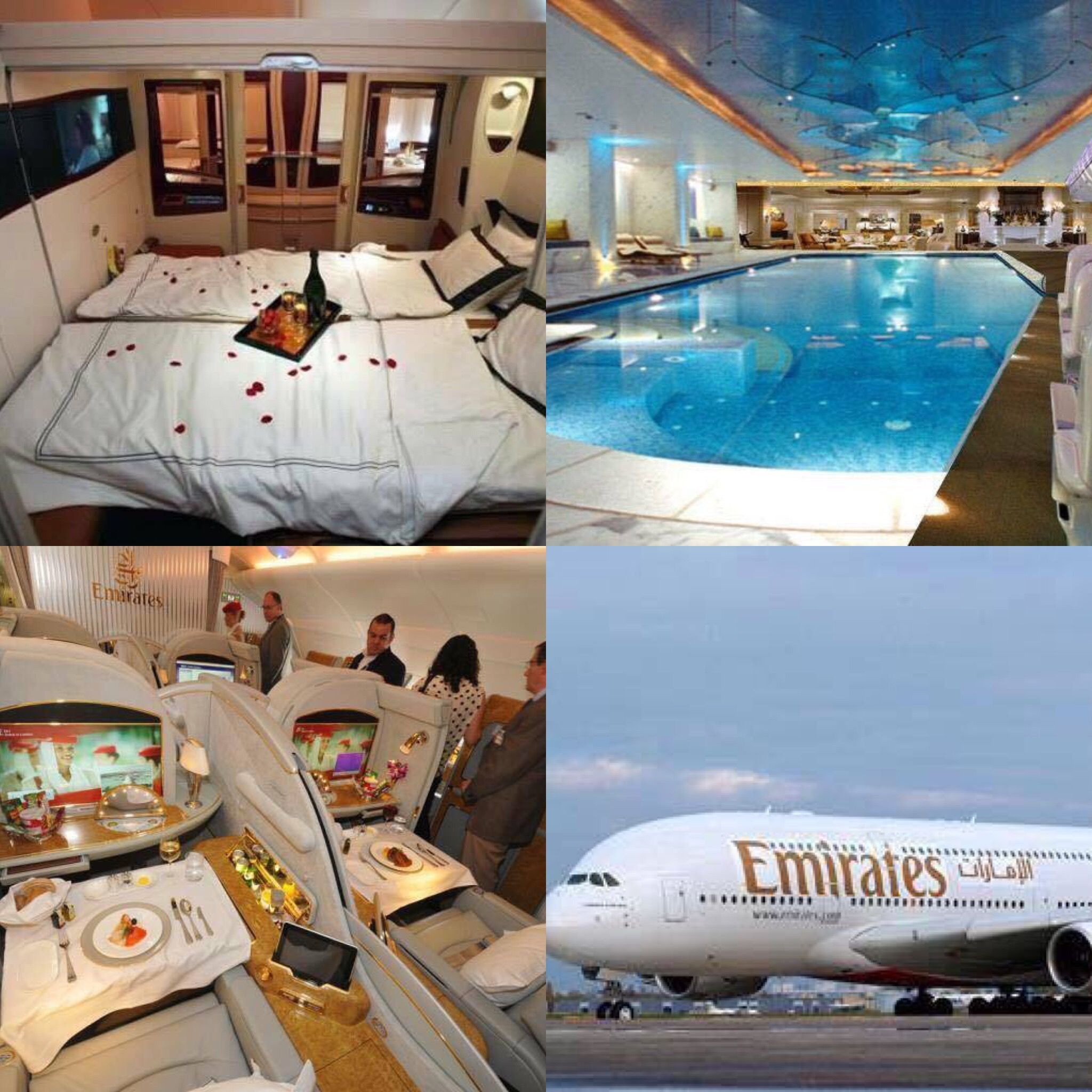 New Emirates Airlines 380 Has 500 Seats And A Room For Two Persons And Also Has Swimming Pool Swimming Pools Pool Emirates Airline