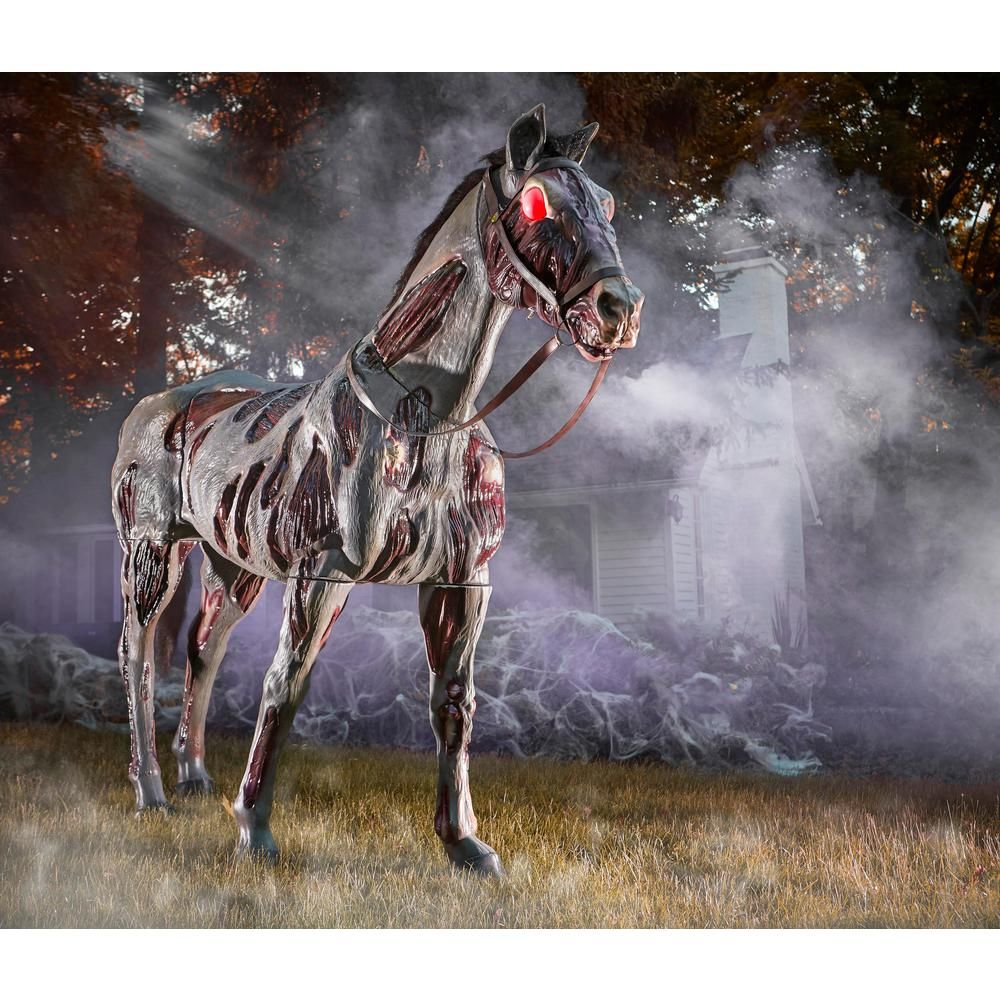 Home Accents Holiday 72 in. Zombie Horse with LED Eyes