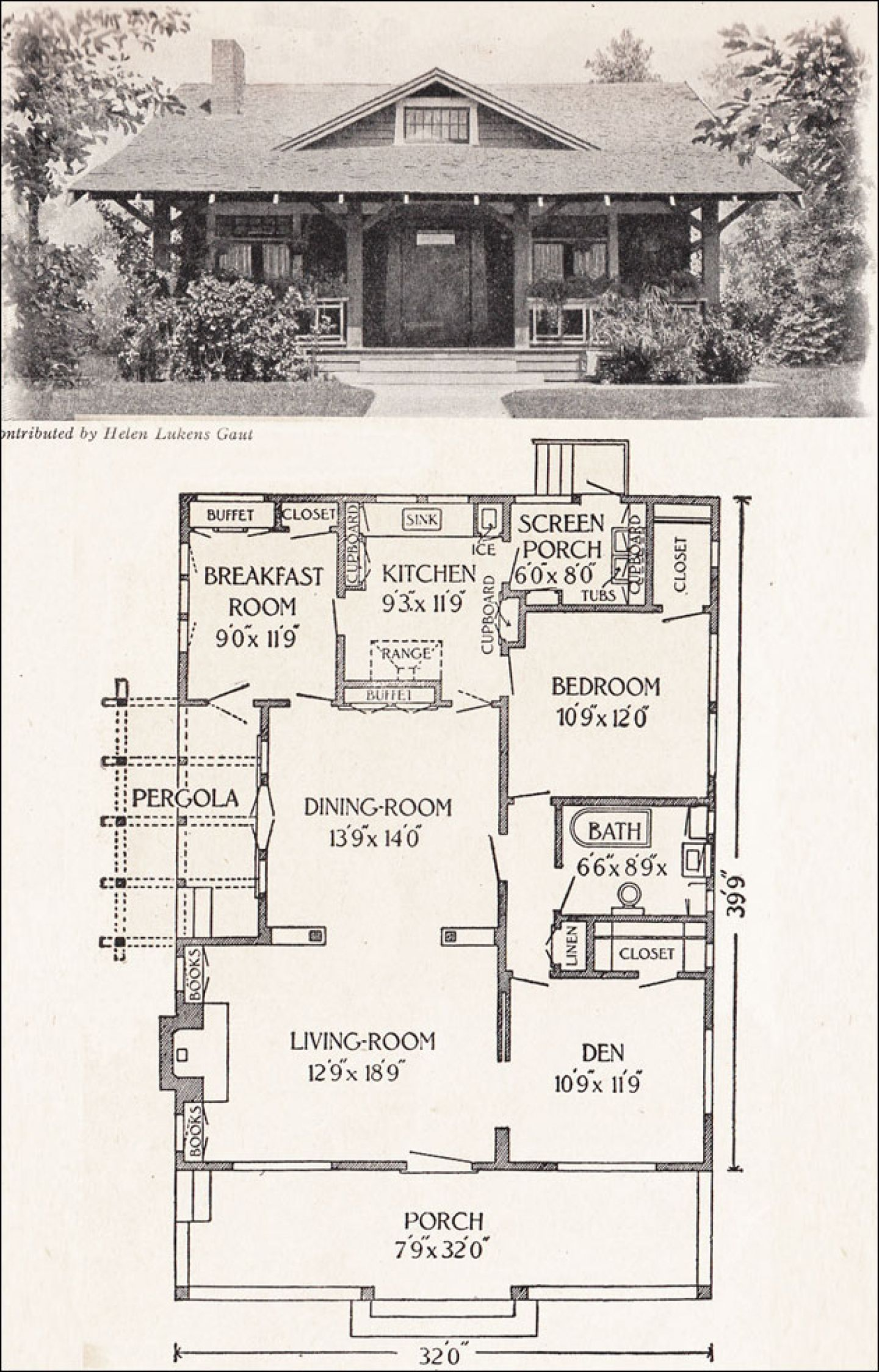 Superieur 700 Square Foot House Plans 1916 California Bungalow 1200 Sq Ft Helen  Lukens Gaut Old Wallpaper