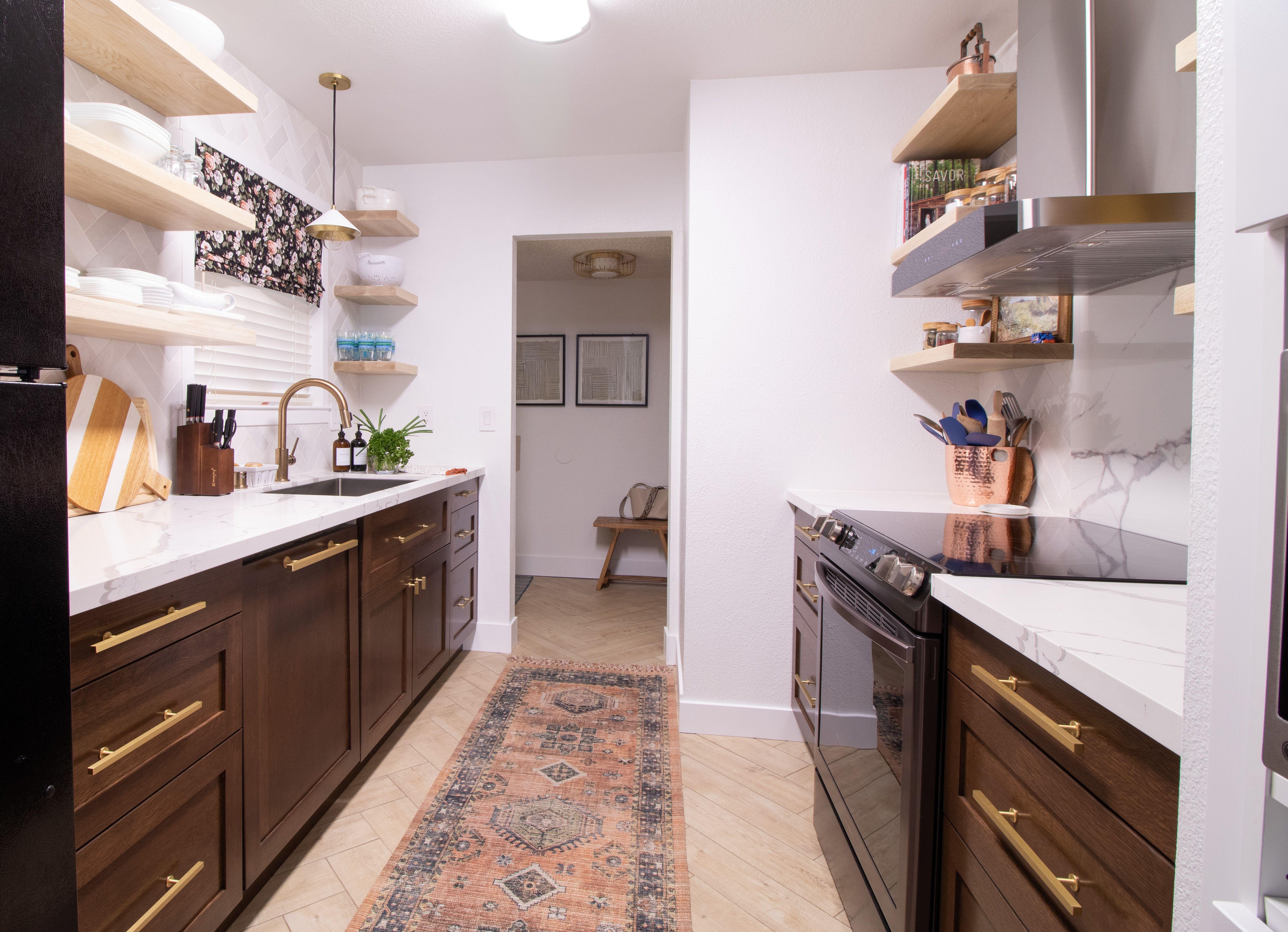Dark walnut stain kitchen Dark brown in