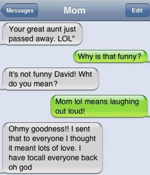 17 Downright Hysterical Texts That Only Mom Could Send
