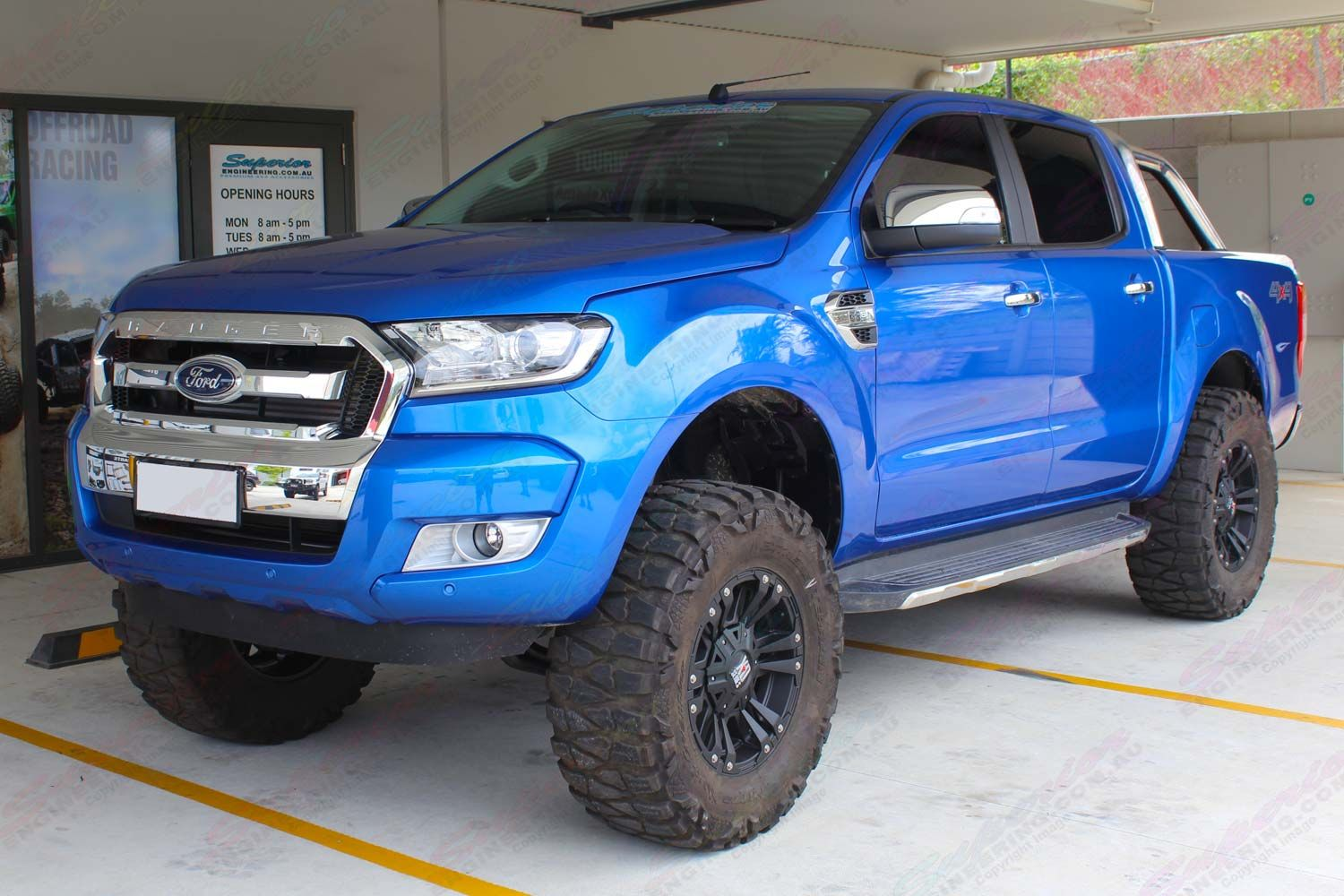 Front Left Side View Of The Current Model Ford Ranger Px11 After