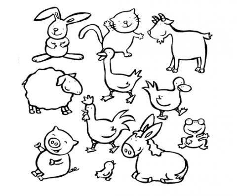 Dibujos De Animales De La Granja Para Colorear Con Los Ninos
