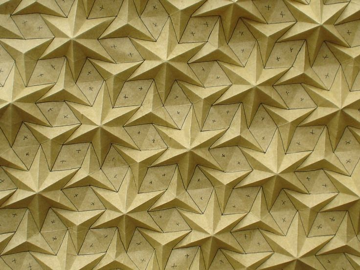 Origami Tessellation Modular 3d Wall Surface Modul Tile With Fluid Curved Pattern Paper Flower Wall Art Paper Folding Techniques Paper Sculpture