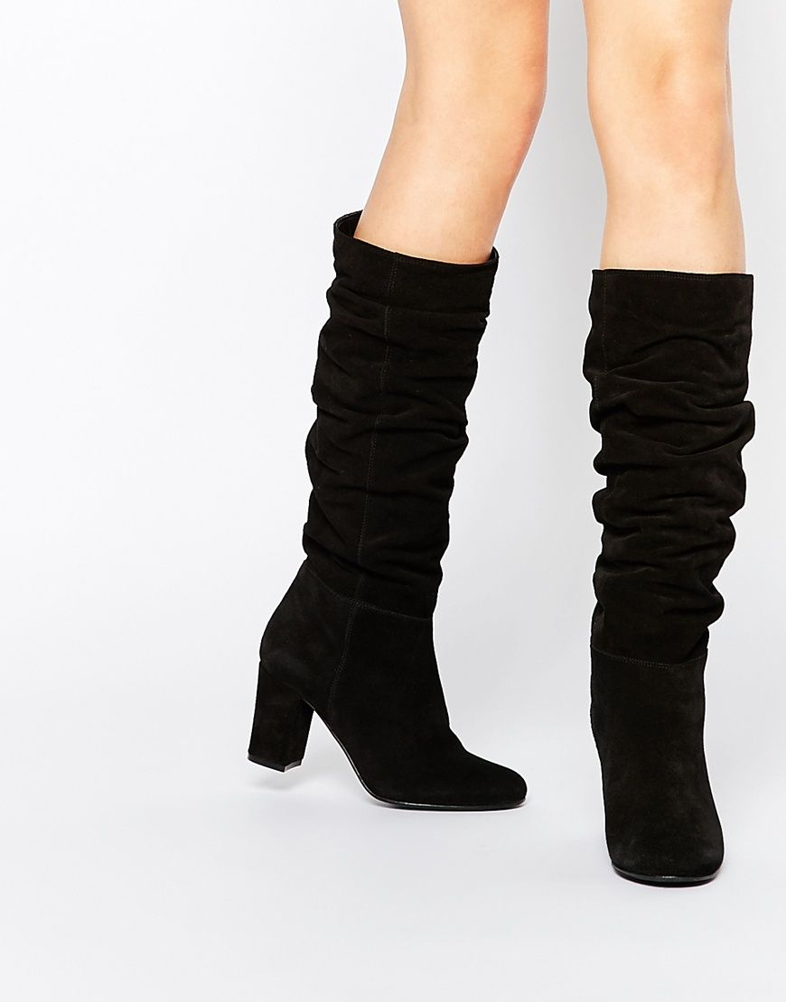 Buy Women Shoes / Oasis Knee High Slouch Block Heeled Boot