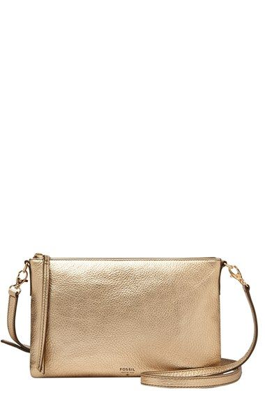 Women s Fossil  Sydney  Top Zip Leather Crossbody Bag - would look awesome  with an orange or purple backpack 93a5960babf5d