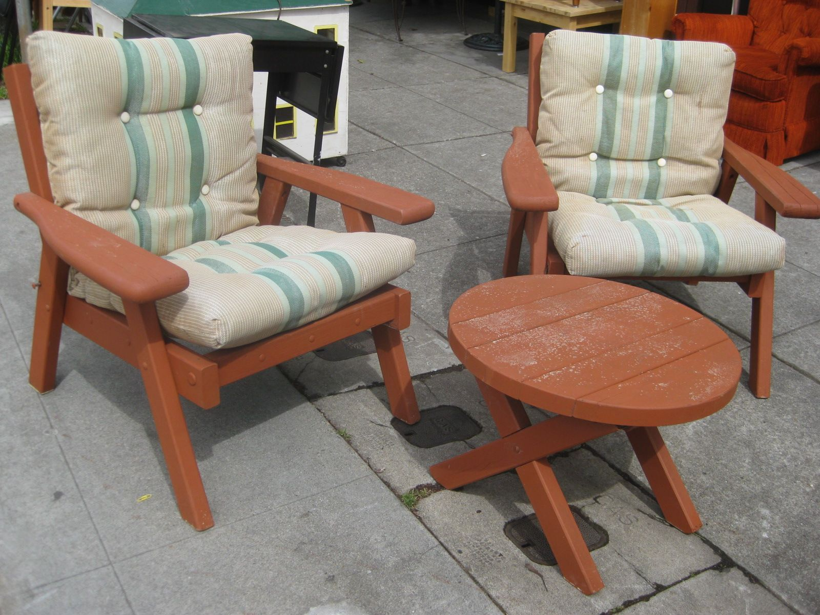 Delicieux Redwood Patio Furniture   Like Momu0027s Patio Chairs Before I Started Working  On Them