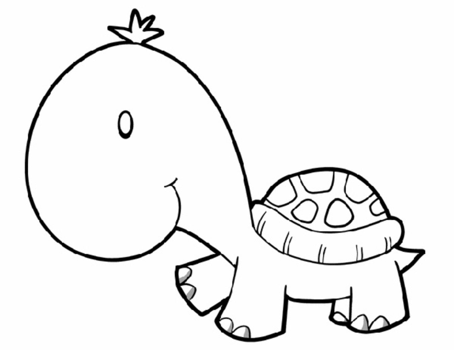 Animal coloring pages for kids | Turtle, Simple embroidery and ...