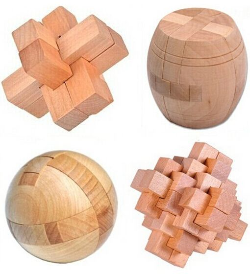 Educational Toys Creative Puzzle 3D Wooden Kids Interlocking Puzzle Games Gift S