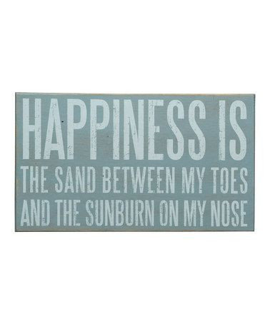 'Happiness is the Sand'