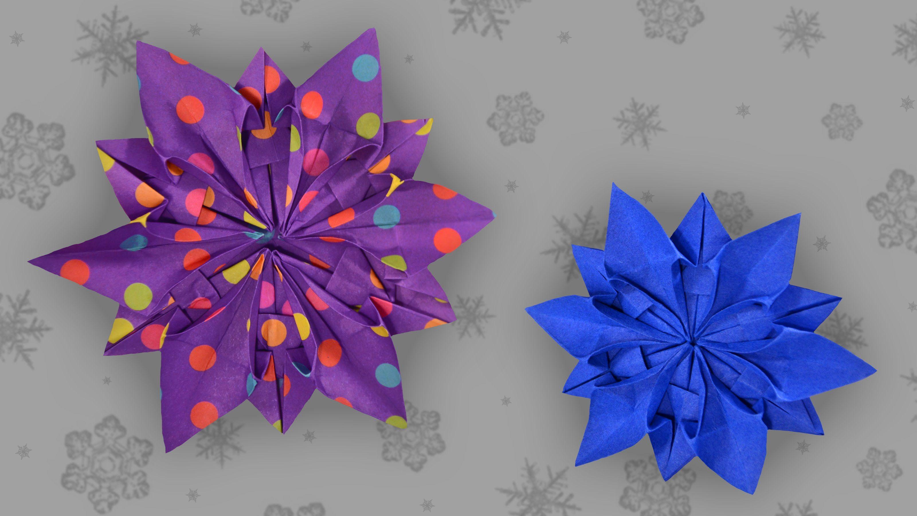 Diese Origami Schneeflocke Ist Eine Wunderschöne