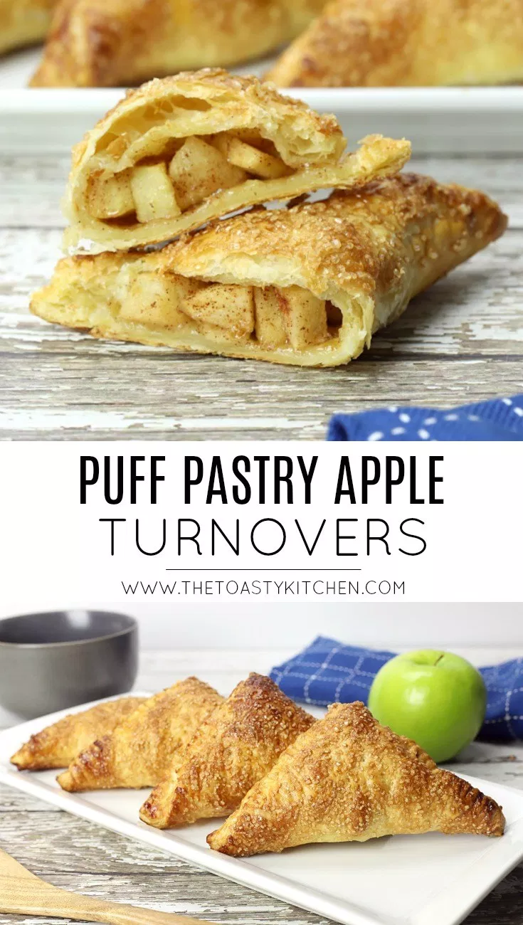 Puff Pastry Apple Turnovers - The Toasty Kitchen