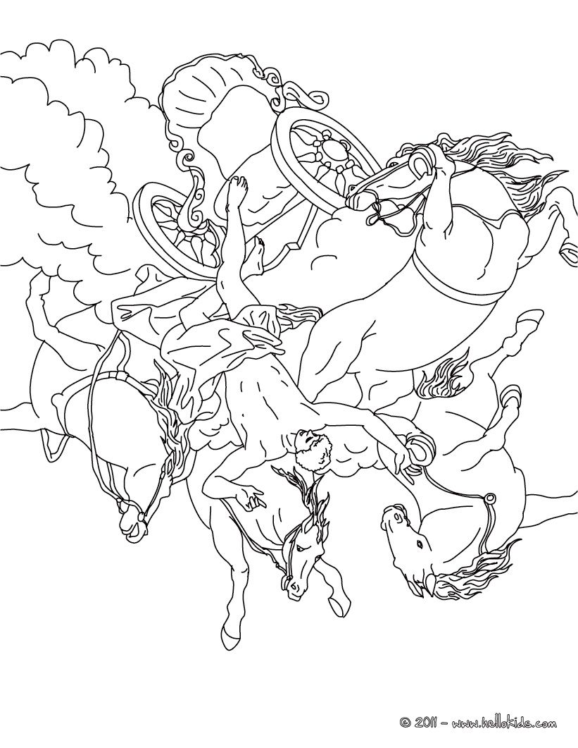 greek myths and heroes coloring pages phaeton and the chariot of