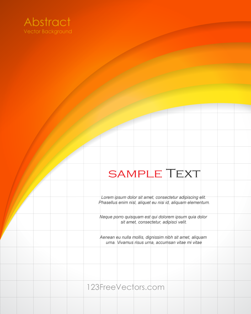 Abstract Orange Background Template Vector Design  Background