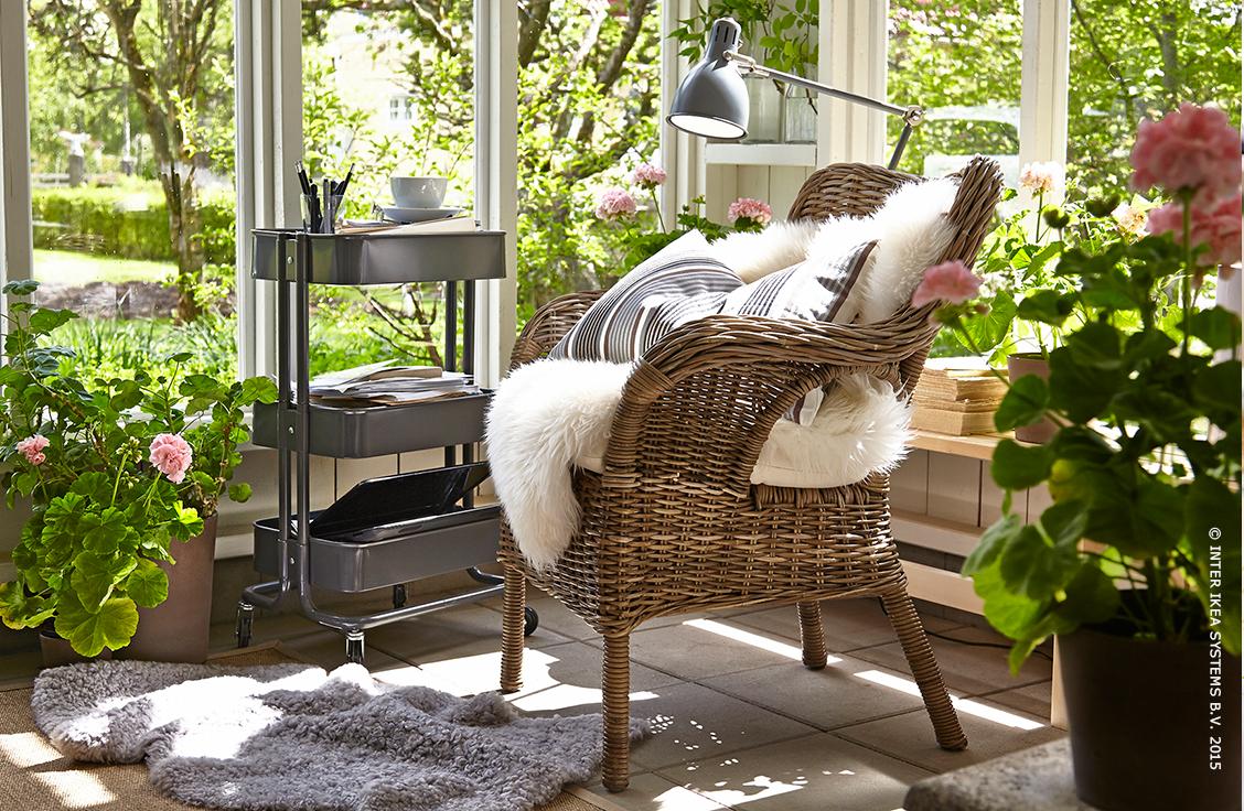 Byholma fauteuil grijs ikea pinterest sillon de for Sillones jardin ikea