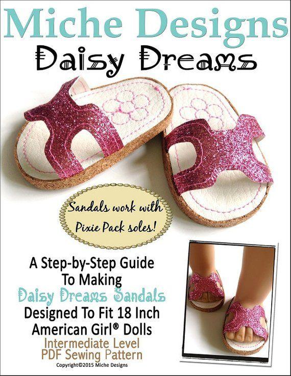 f38c7cfea8fbb Pixie Faire Miche Designs Daisy Dreams Sandals Doll Clothes Pattern ...