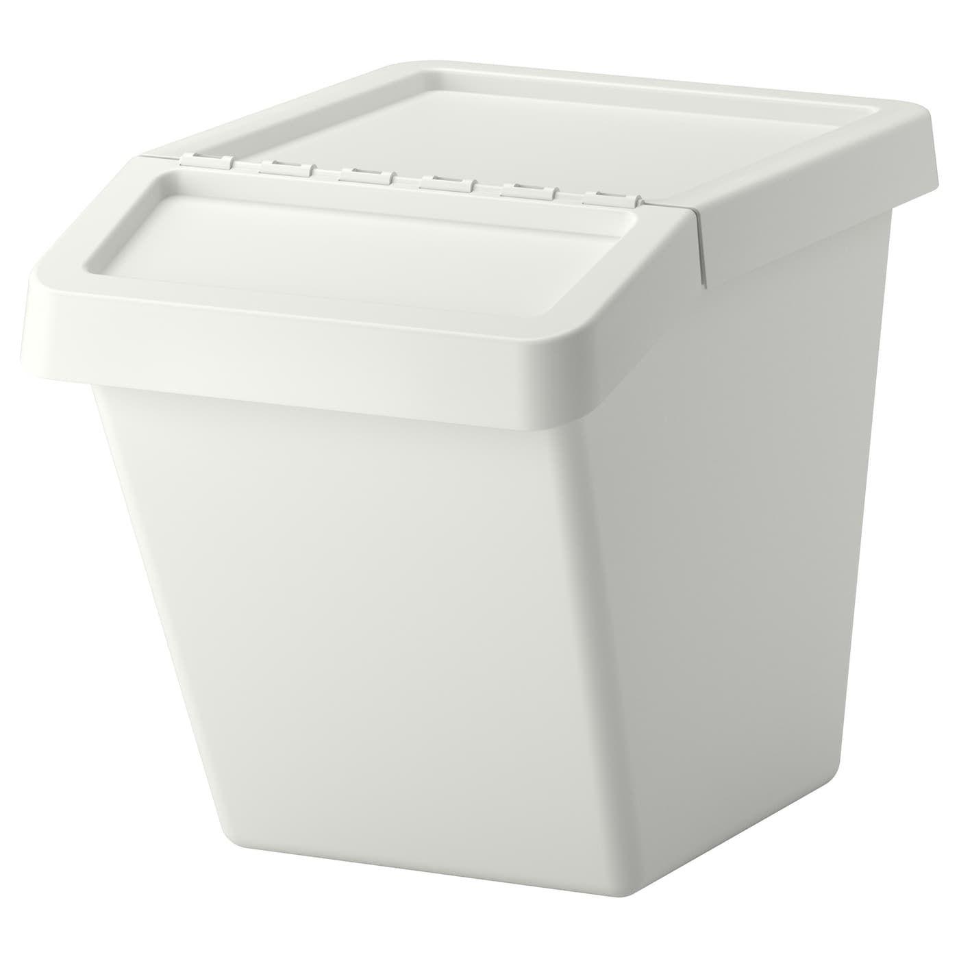 Ikea Sortera Bac Recyclage Avec Couvercle Blanc Trash