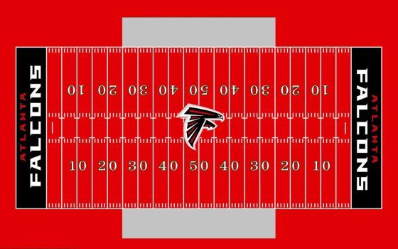 Falcons All Red Field By Chenglor55 Football Field Falcons Football