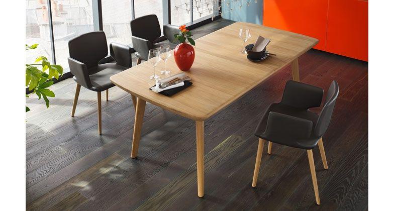 flaye Tisch aus Holz | In 4 Sekunden ausziehbar | TEAM 7
