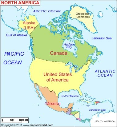 Map Of Usa And Canada And Alaska Map of North America, North America Map | North america map