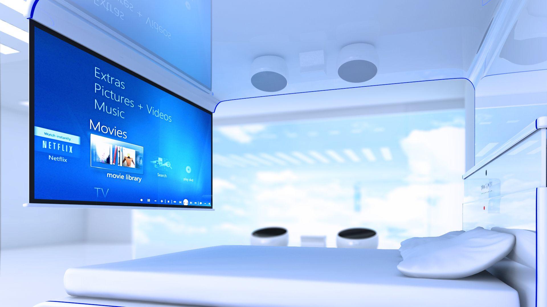 Diseño personal de como podria ser una cama multimedial