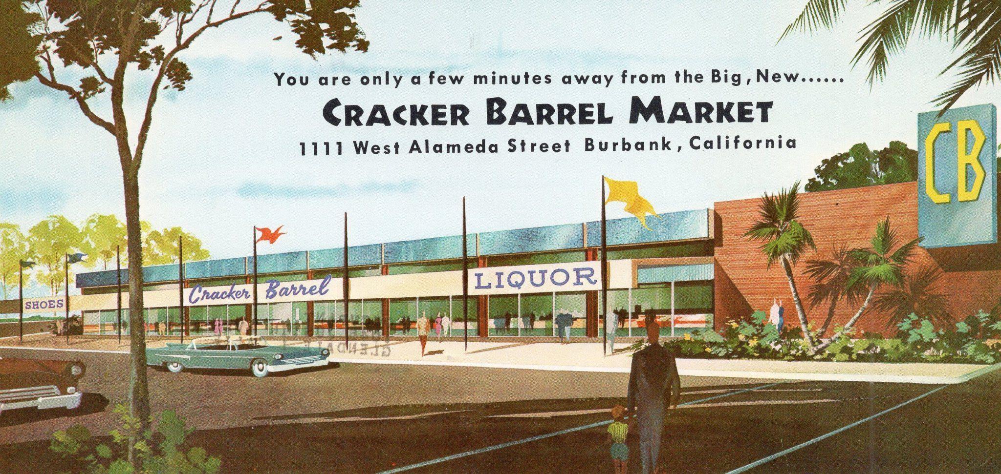 A Vintage 1959 Advertising Postcard Of The New Cracker Barrel